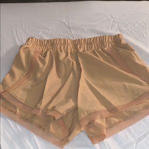 lulu lemon gold shorts